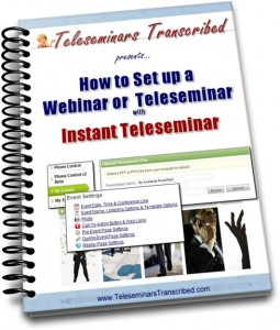 how to instant teleseminar